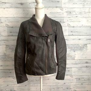 Mossimo faux leather jacket asymmetric zipper